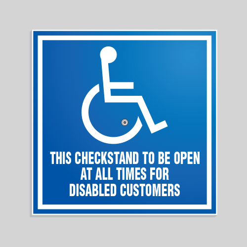 Removable ADA Sign CSA016
