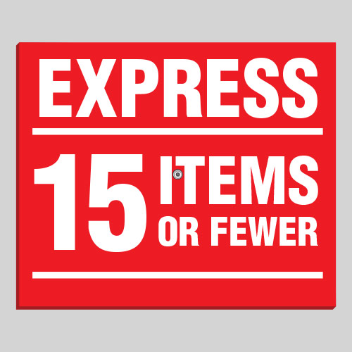 Removable Express Sign EXS008