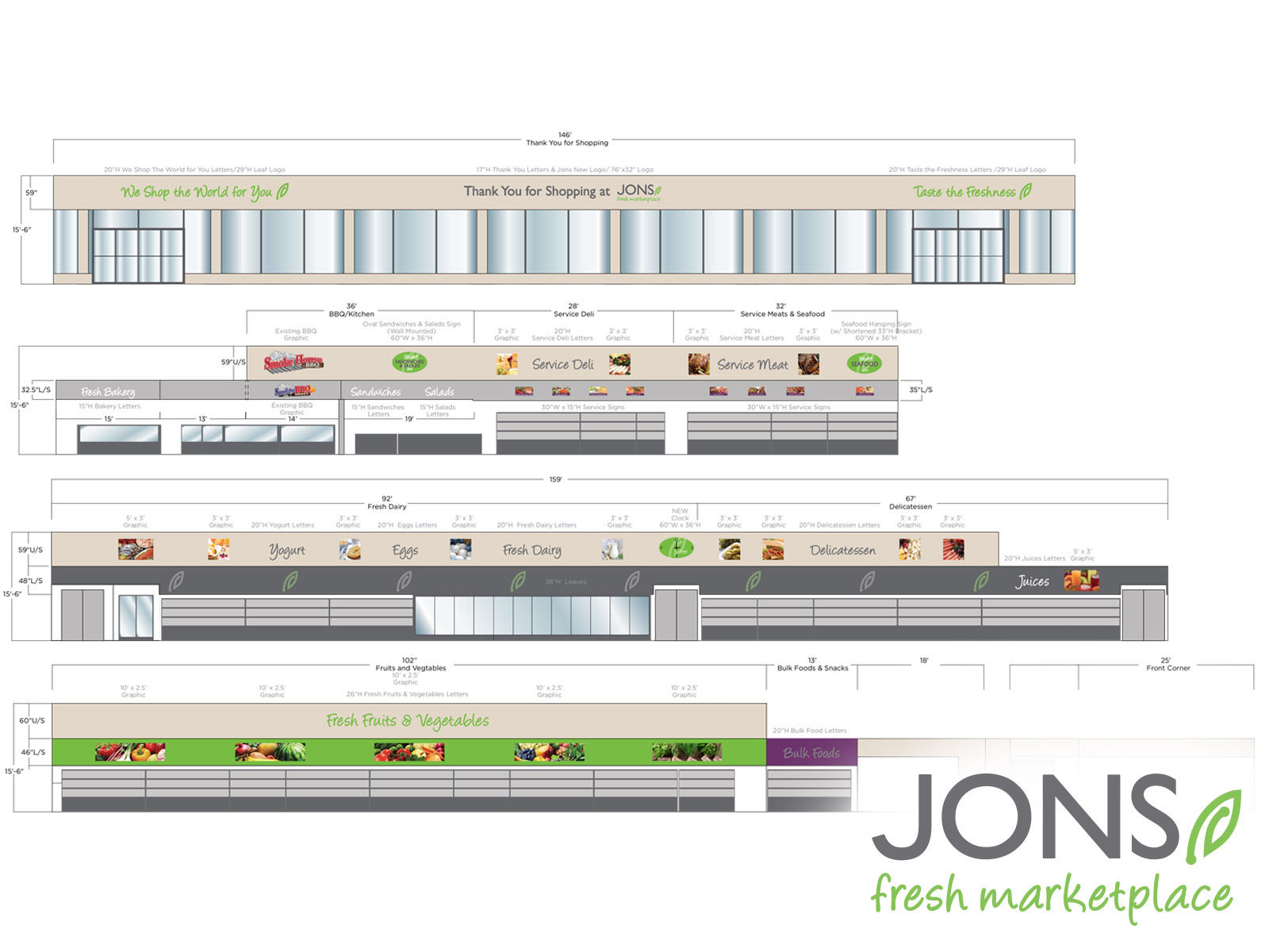 Jons Fresh Marketplace Photo - Spec Drawings and Elevation